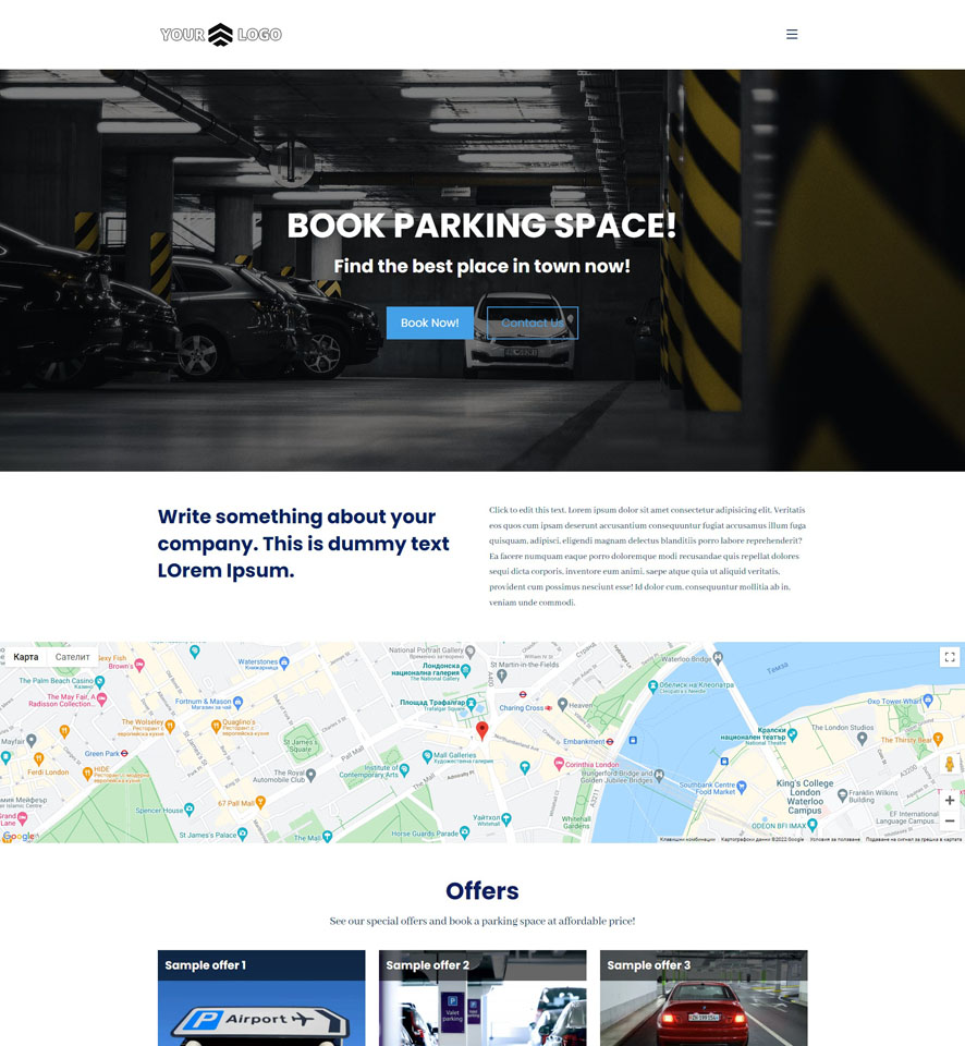 Car Parking Website Design 1