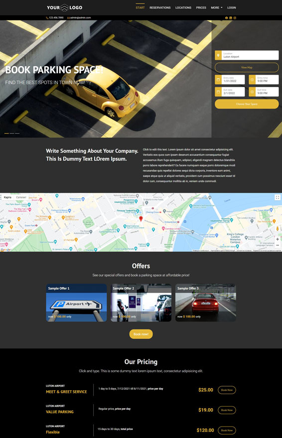VEVS Car Parking Websites