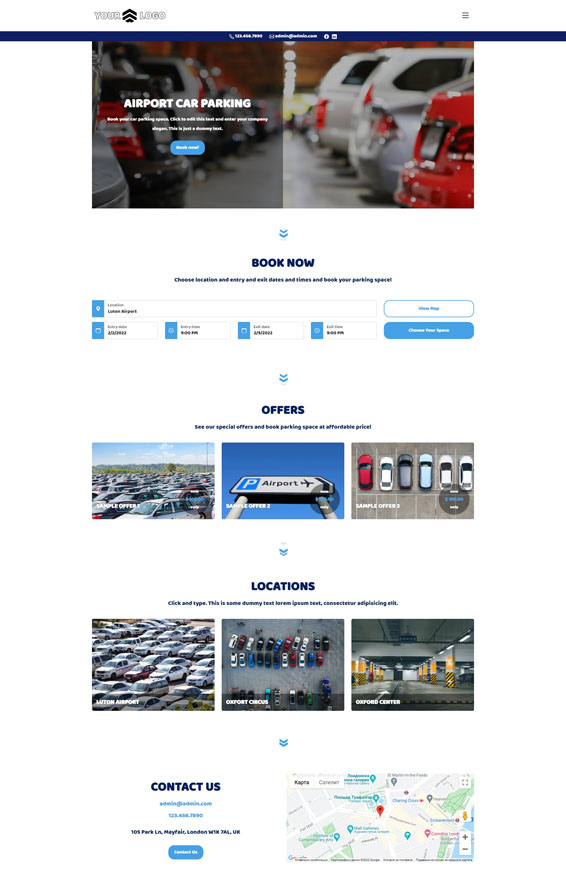 Car Parking Websites by VEVS