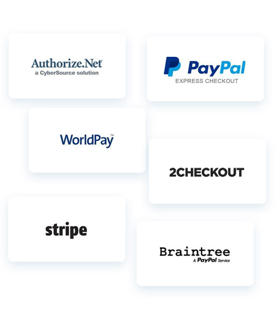 Various add-ons and payment gateways