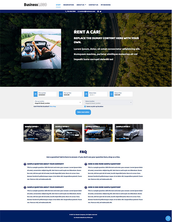 VEVS: Car Rental Websites | Demo