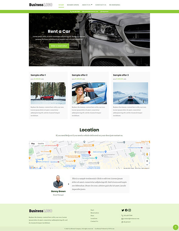 Car Rental Website Template #5