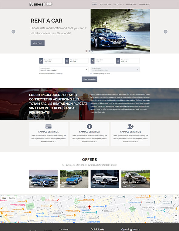 Car Rental Website Template #6