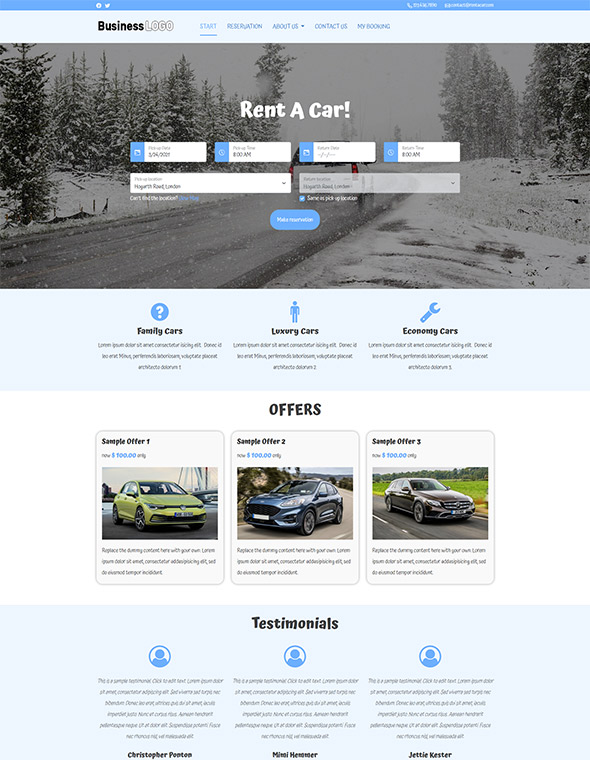 Car Rental Website Template #7
