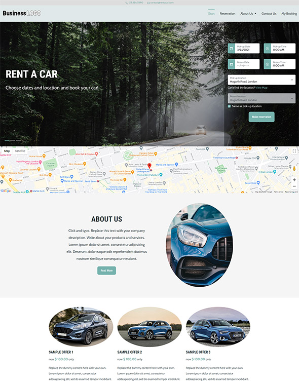 Car Rental Website Template #8