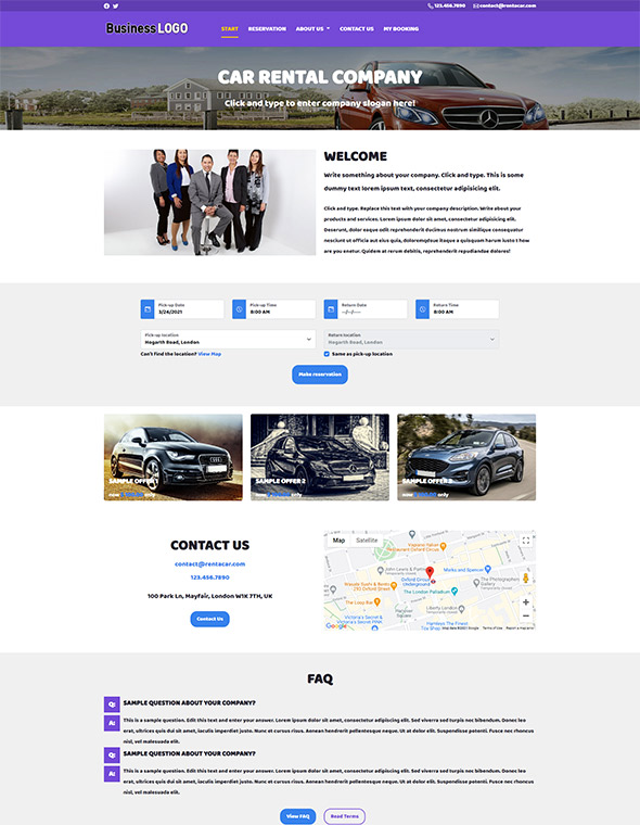 Car Rental Website Template #9