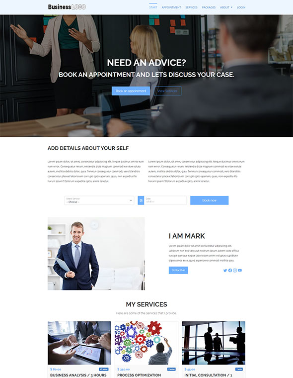 Consultant Website Template #1