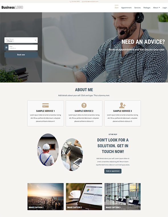 Consultant Website Template #3