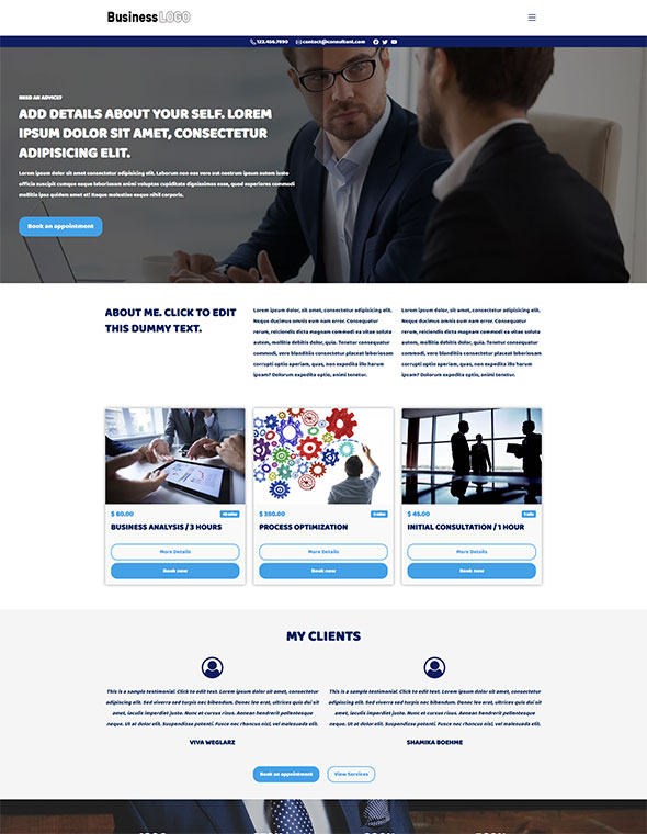 Consultant Website Template #4