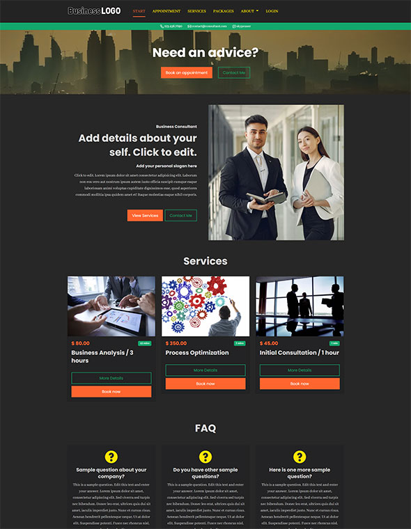 Consultant Website Template #5