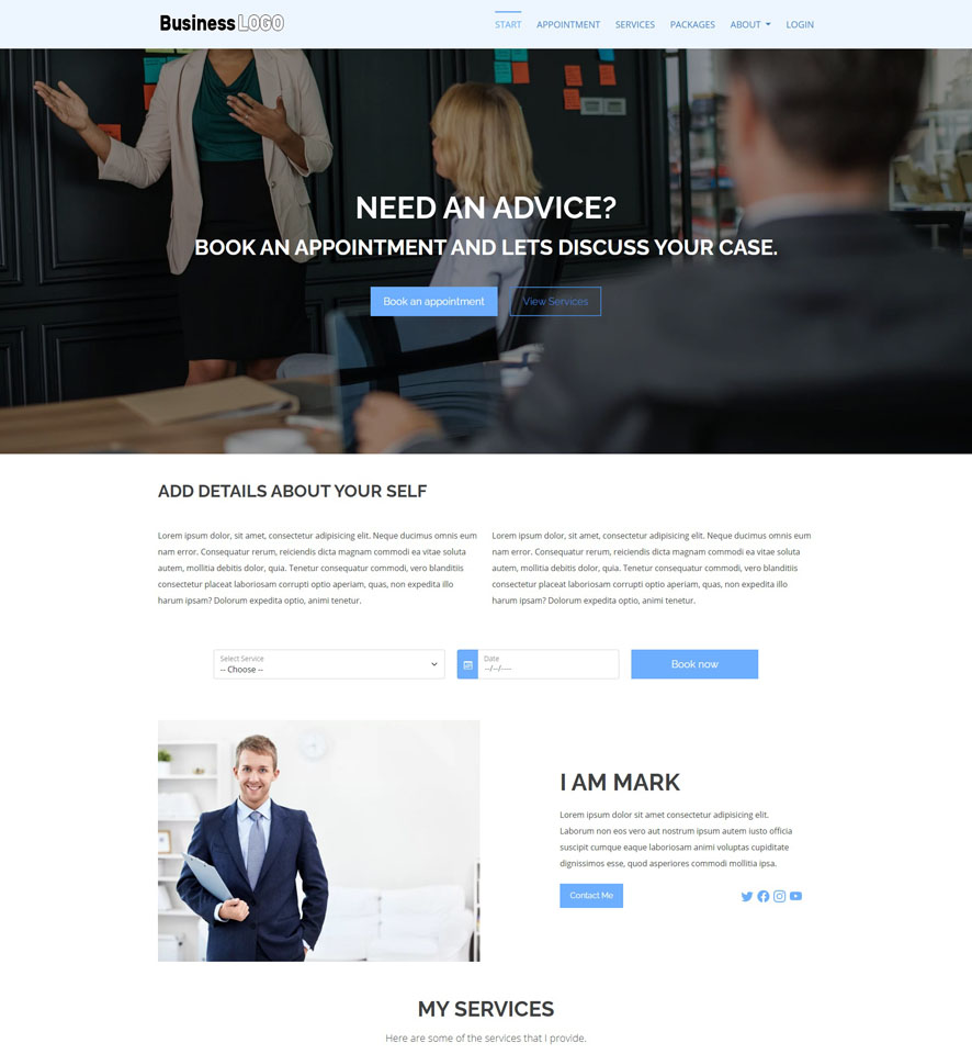 Consultant Website Design by VEVS 1