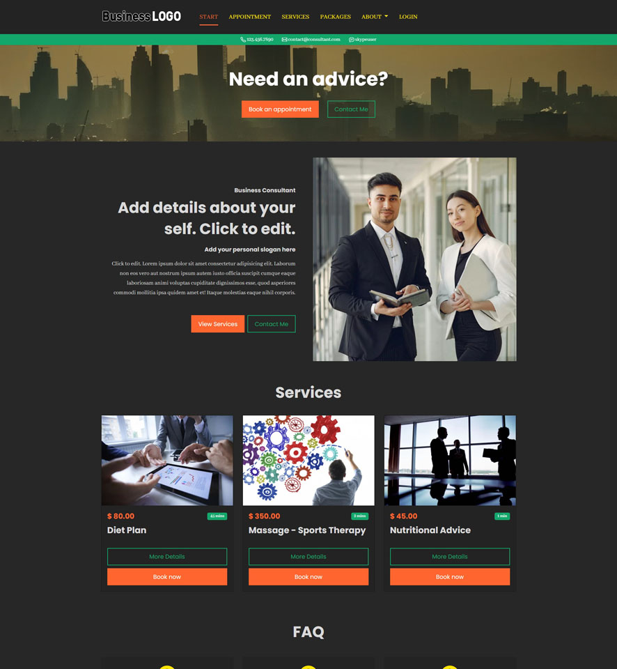 Consultant Website Design by VEVS 3