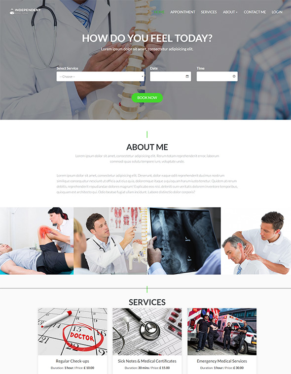 Doctor Website Template #1