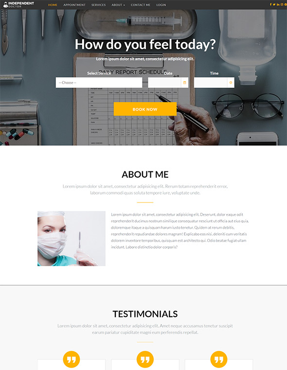 Doctor Website Template #3