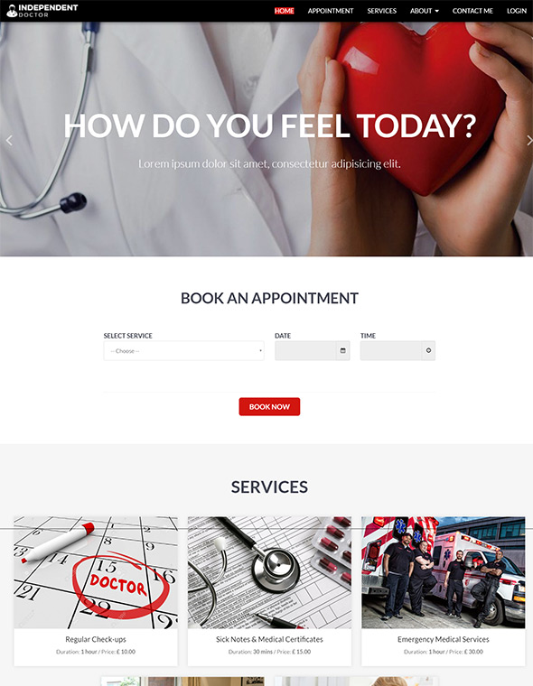Doctor Website Template #8