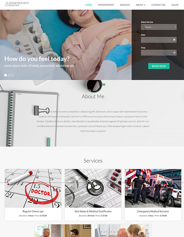Doctor Website Template #9
