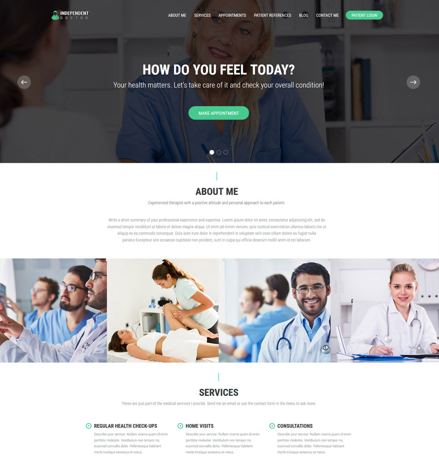 Doctor Website Design by VEVS 1