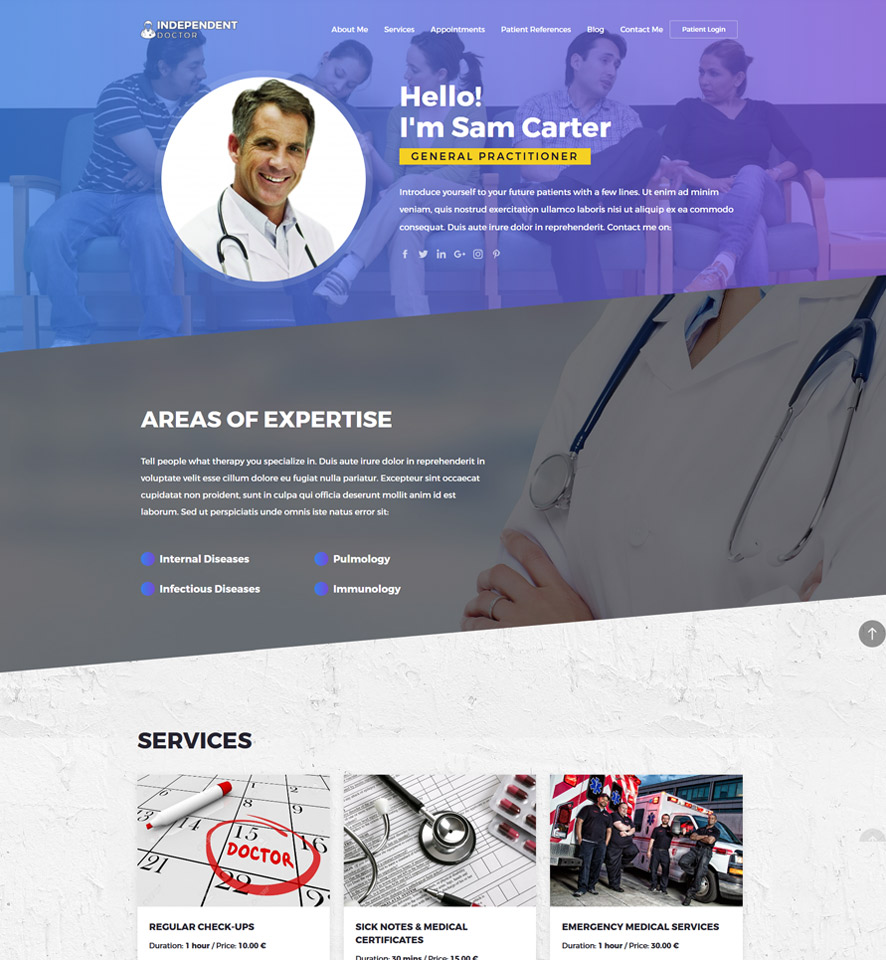 Physician Website Design by VEVS 2