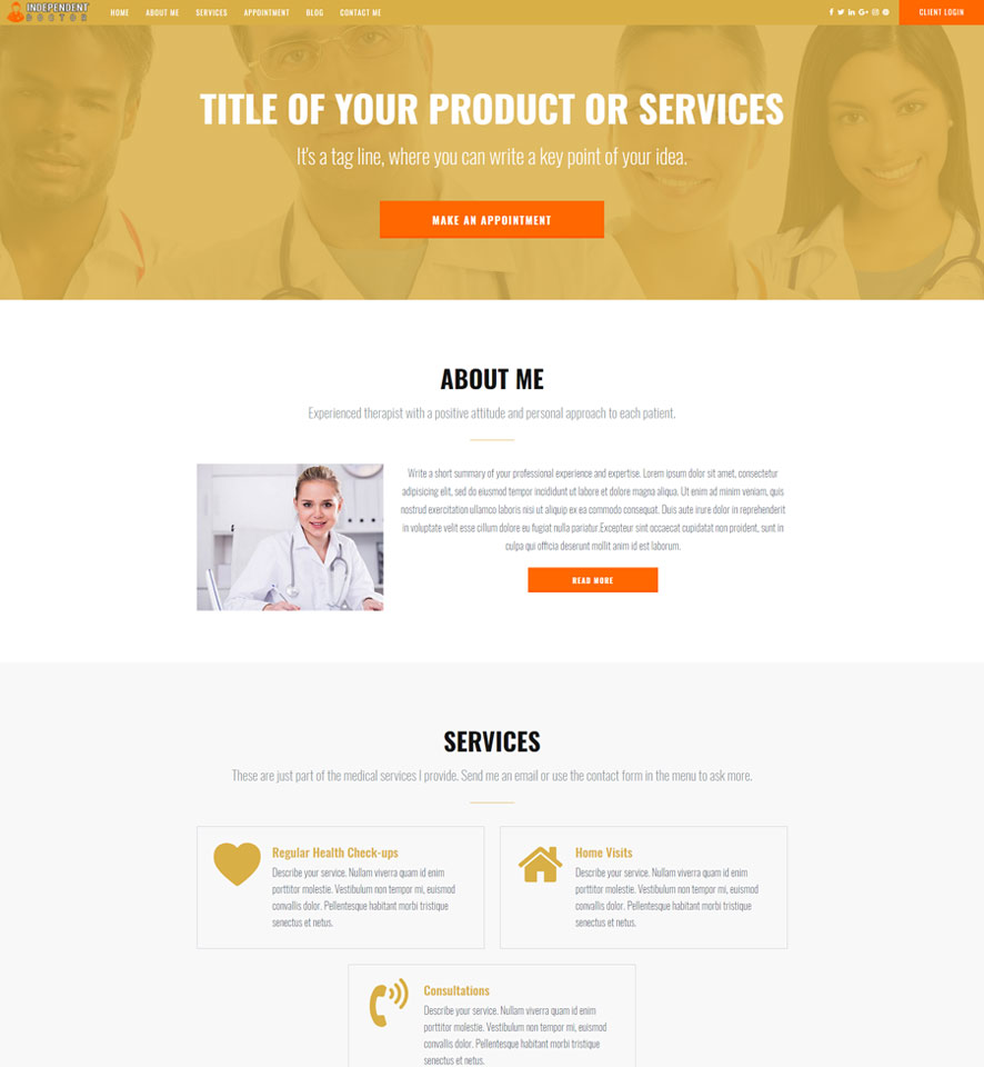 Doctor Website Design by VEVS 3