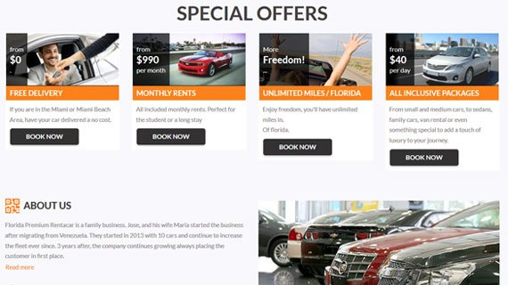 VEVS Car Rental Site - Offers