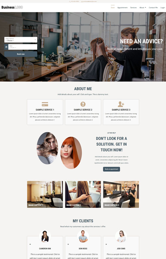 VEVS Hair & Beauty Stylist Websites