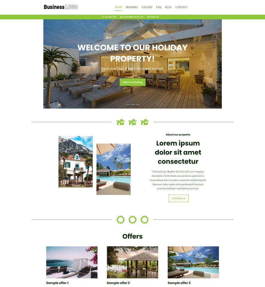 Holiday Property Website Design by VEVS 3