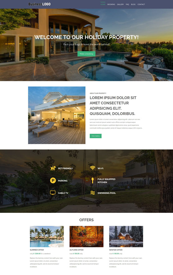 Holiday Property Website 1