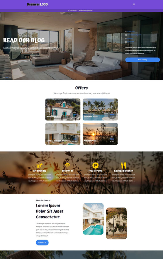 Holiday Property Website 3