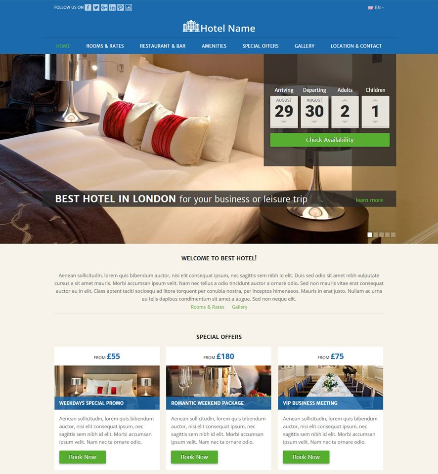 Hotel Website Design 1