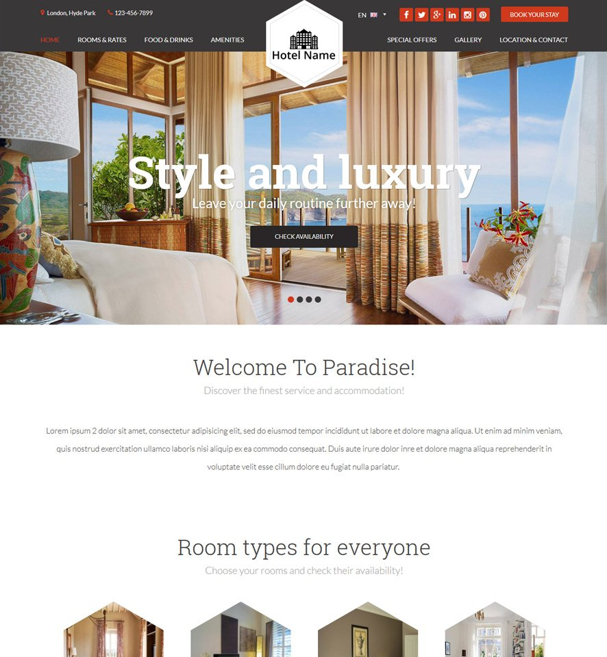 Hotel Website Design 2