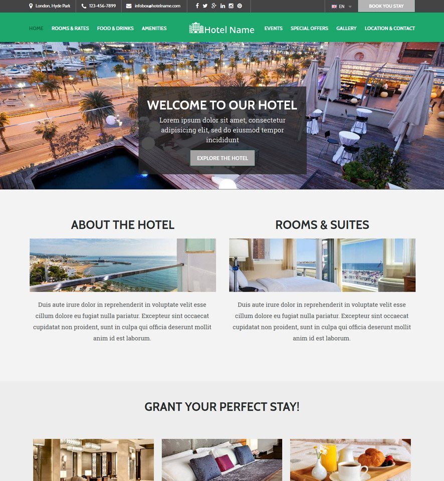 Hotel Website Design 3