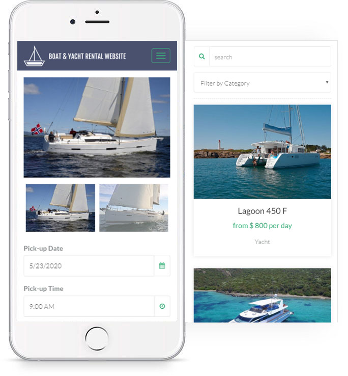 Yacht and Boat Rental Software