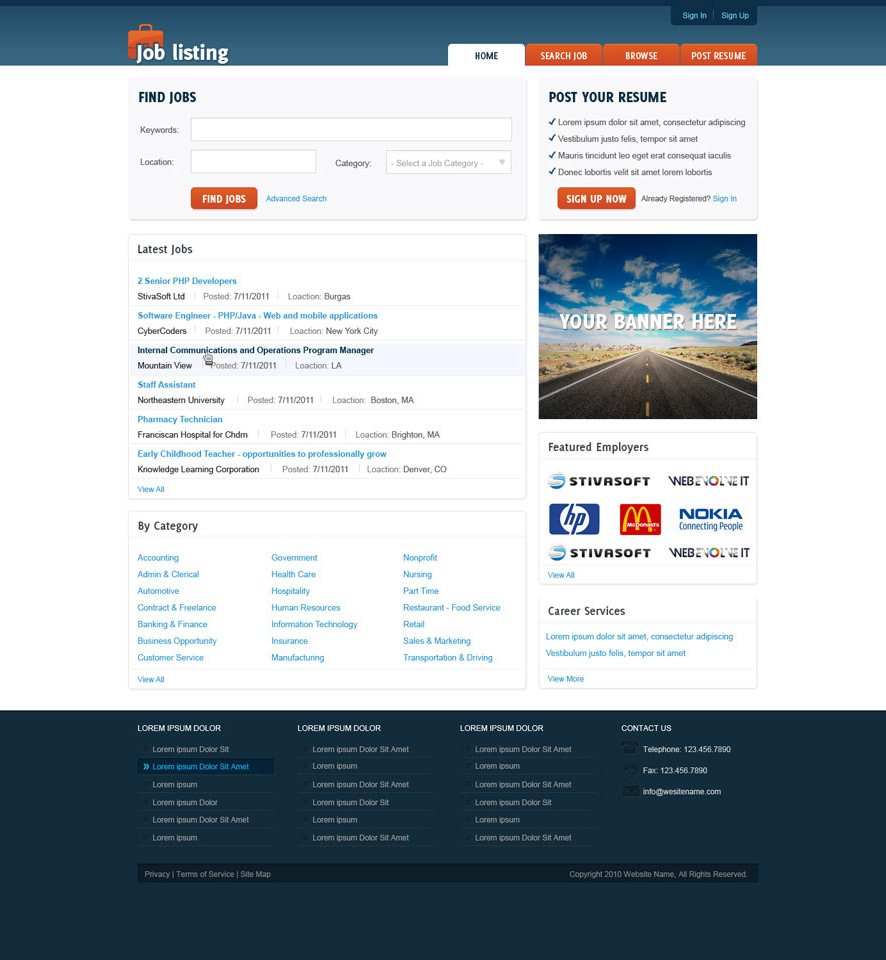 Job Portal website design 1