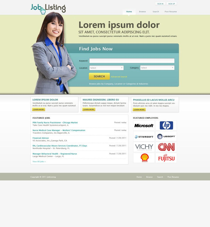 Job Portal website design 2