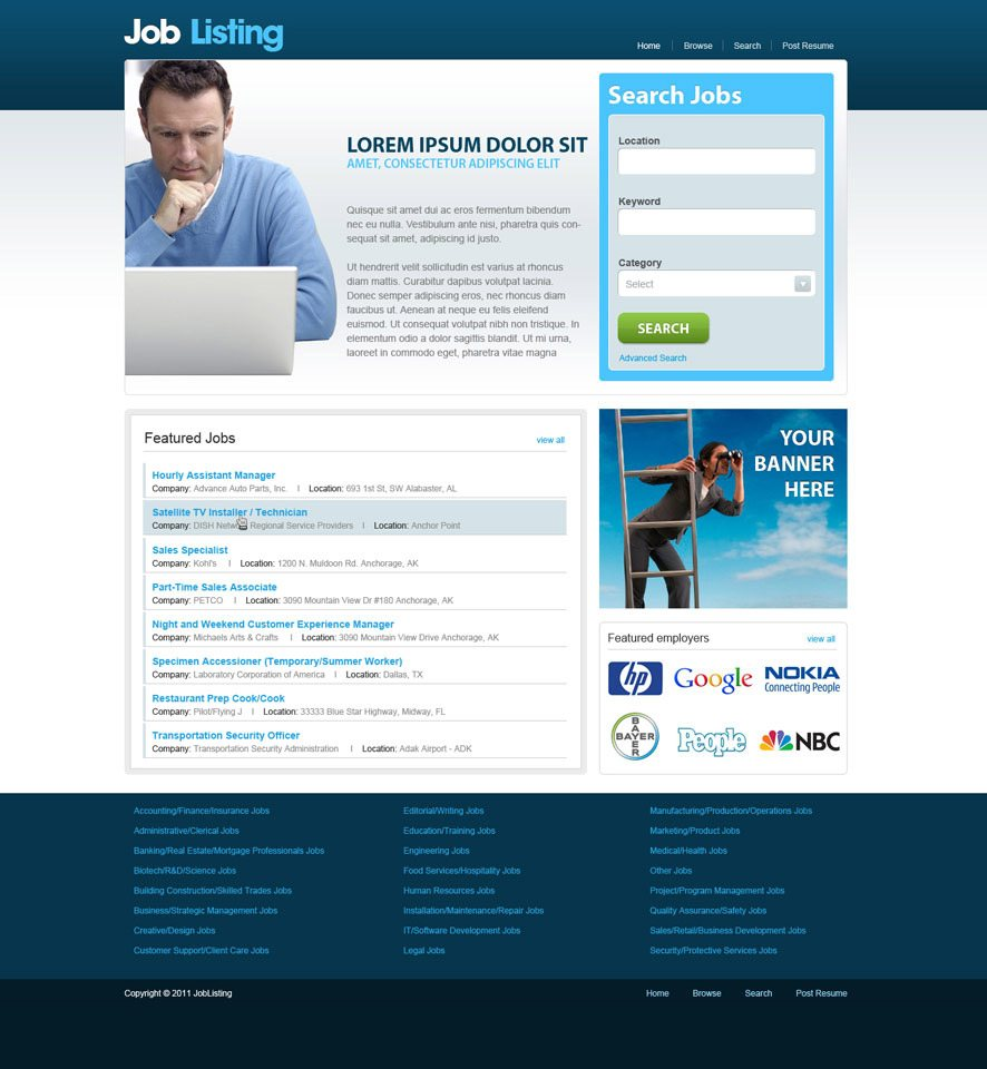 Job Portal website design 3