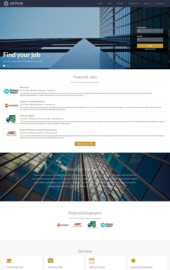 Job Portal Website 3