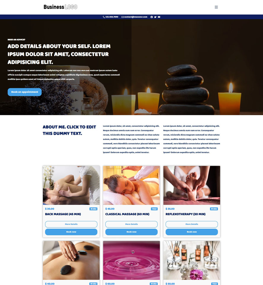 Chiropractor Website Design by VEVS 2