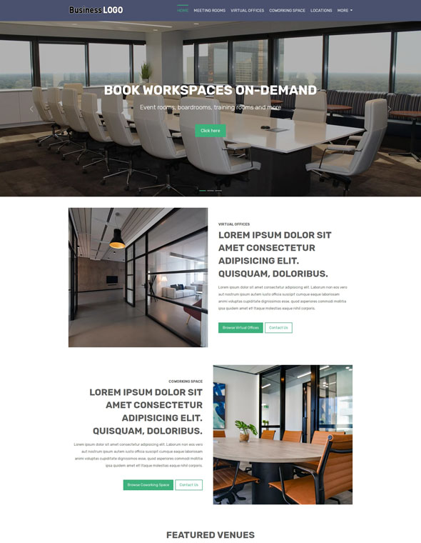Meeting Room Booking Website Template #1