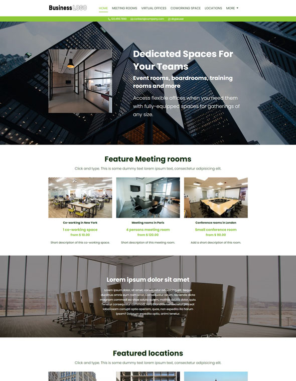 Meeting Room Booking Website Template #5