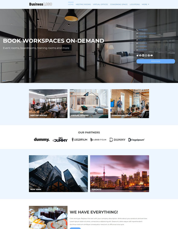 Meeting Room Booking Website Template #6