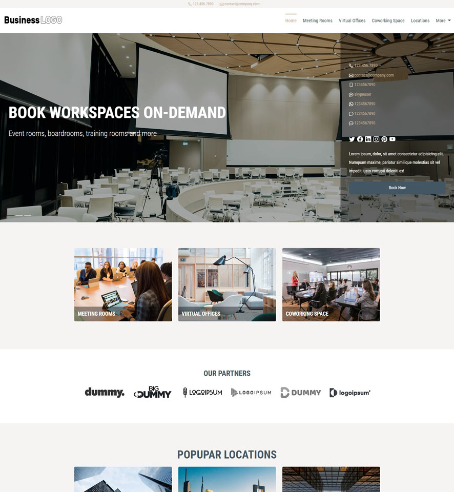 Meeting Room Booking Website Design by VEVS 1