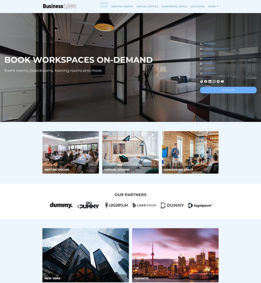 Conference Room Reservation Website Design by VEVS 2
