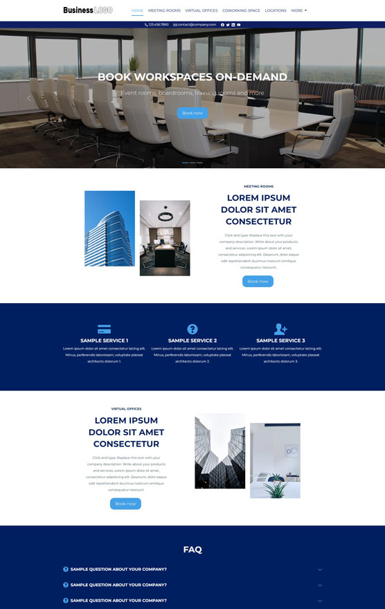 VEVS Meeting Room Booking Website