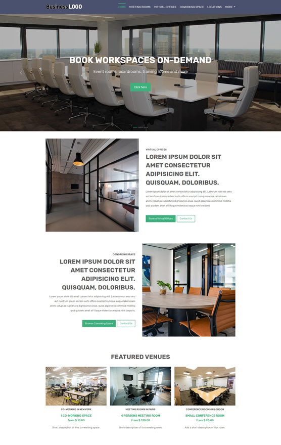 VEVS Meeting Room Venue Website