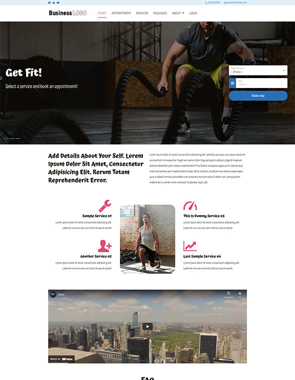 Personal Trainer Website Template #2