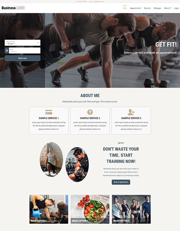 Personal Trainer Website Template #3