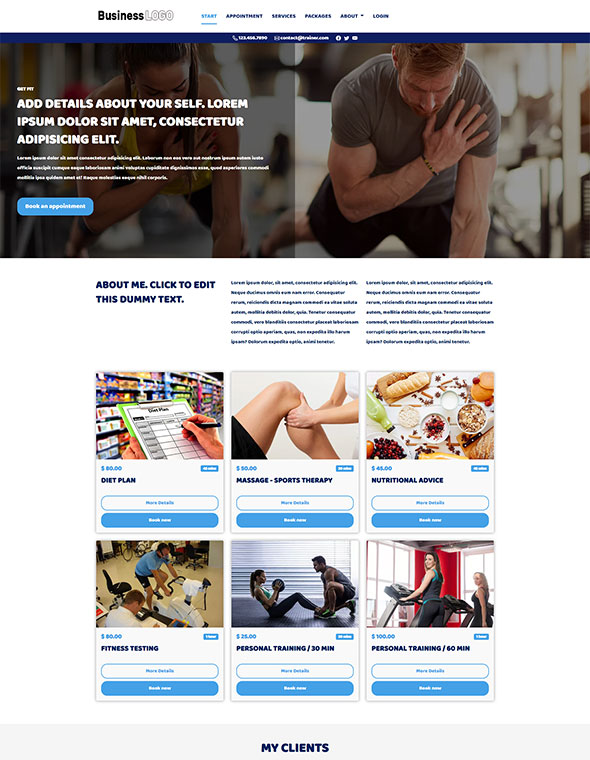Personal Trainer Website Template #4