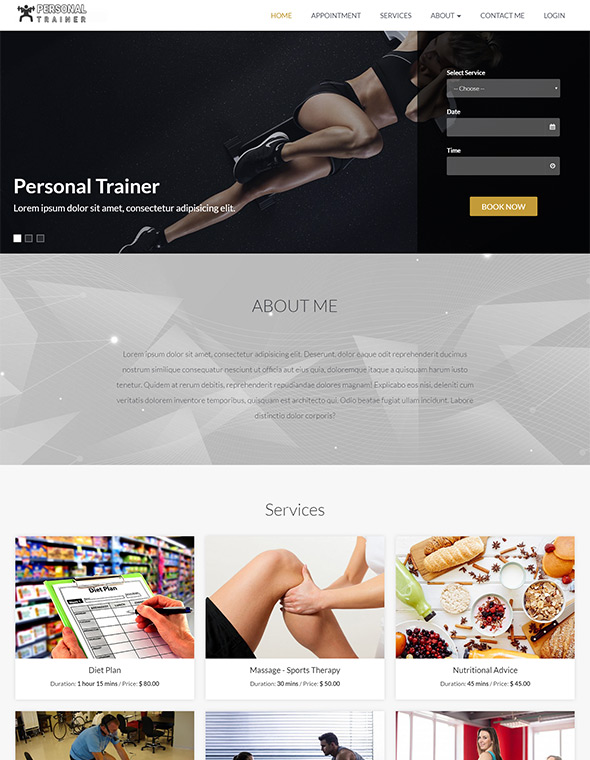 Personal Trainer Website Template #9