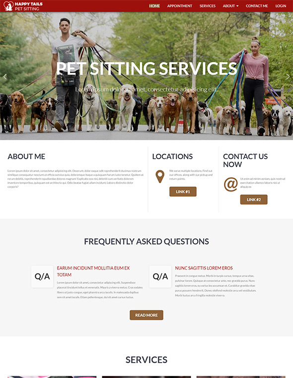 Pet Sitting Website Template #8