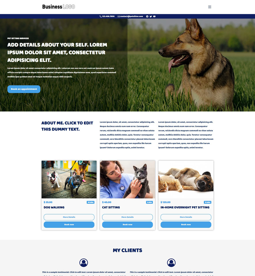 Dog Walking Website Design by VEVS 2